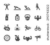 fitness icon set 2  vector... | Shutterstock .eps vector #293743322
