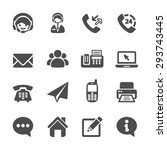 contact us icon set  vector... | Shutterstock .eps vector #293743445