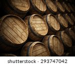 Wine Cellar With Stack Of...