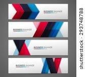 set of banner templates. bright ... | Shutterstock .eps vector #293748788