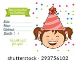 birthday invitation design ... | Shutterstock .eps vector #293756102