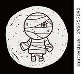 mummy doodle | Shutterstock . vector #293757092