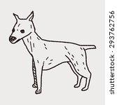 dog doodle | Shutterstock . vector #293762756