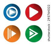 play icon. media icon. pause... | Shutterstock .eps vector #293764322
