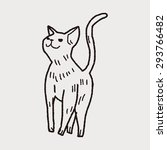 cat doodle drawing | Shutterstock . vector #293766482