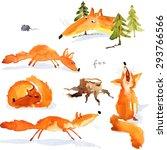 a set of 5 illustrations... | Shutterstock . vector #293766566