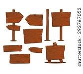 cartoon wooden signs set | Shutterstock .eps vector #293767052