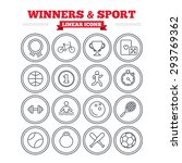 winners and sport linear icons... | Shutterstock .eps vector #293769362