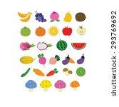 set of fruits   Shutterstock .eps vector #293769692
