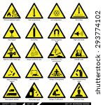 set of safety signs. caution... | Shutterstock .eps vector #293774102