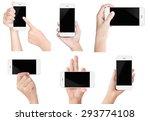 hand hold white modern smart... | Shutterstock . vector #293774108