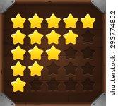 vector set of golden rating...