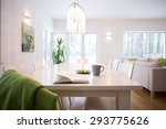 book on the table in cozy... | Shutterstock . vector #293775626