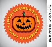 special halloween discount... | Shutterstock .eps vector #293787392