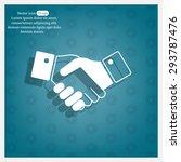 icon of handshake sign. | Shutterstock .eps vector #293787476