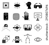 virtual reality icons set | Shutterstock .eps vector #293807696