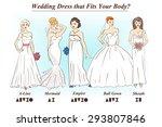 set of wedding dress styles for ...   Shutterstock .eps vector #293807846