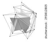 3d abstraction  lattice... | Shutterstock . vector #293812805