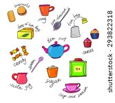 bright colors tea cup and... | Shutterstock .eps vector #293822318
