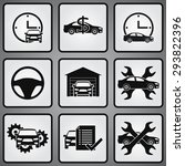 car dealership 9 icons set.... | Shutterstock .eps vector #293822396