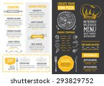 restaurant cafe menu  template... | Shutterstock .eps vector #293829752