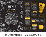 restaurant cafe menu  template... | Shutterstock .eps vector #293829758