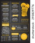 restaurant cafe menu  template... | Shutterstock .eps vector #293829776