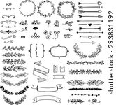 set of doodle design elements.... | Shutterstock .eps vector #293831192