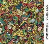 cartoon vector doodles hand... | Shutterstock .eps vector #293831822