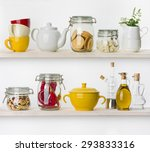 various food ingredients and... | Shutterstock . vector #293833316