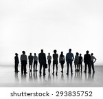 business people team teamwork ... | Shutterstock . vector #293835752