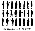 Silhouettes Of Children Of 2 6...