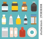 medicine icons in flat style | Shutterstock .eps vector #293838308