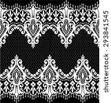 black damask vintage floral... | Shutterstock .eps vector #293841545