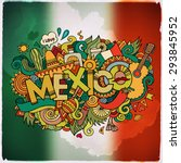 mexico country hand lettering... | Shutterstock .eps vector #293845952