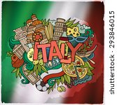 italy country hand lettering... | Shutterstock .eps vector #293846015
