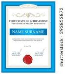vertical certificate template...   Shutterstock .eps vector #293853872