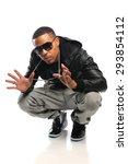 african american hip hop dancer ...   Shutterstock . vector #293854112