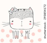 cute cat illustration for... | Shutterstock .eps vector #293854172