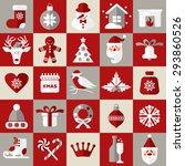 christmas design icons set.... | Shutterstock . vector #293860526