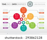 web template of a pyramidal... | Shutterstock .eps vector #293862128