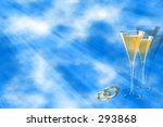 champagne glasses and wedding... | Shutterstock . vector #293868