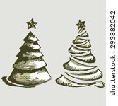 abstract christmas tree and... | Shutterstock . vector #293882042