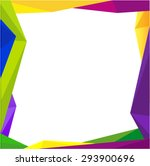 Colorful Frame Blank Backgroun...