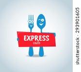 fast food  express cafe logo... | Shutterstock .eps vector #293901605