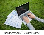 the woman checking reported... | Shutterstock . vector #293910392