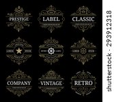 set of retro vintage luxury... | Shutterstock .eps vector #293912318