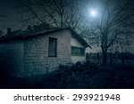 spooky house in the forest at... | Shutterstock . vector #293921948