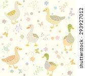 beautiful seamless wallpaper... | Shutterstock .eps vector #293927012