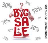 big sale lettering in red tee...   Shutterstock .eps vector #293942105
